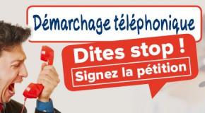 Démarchage téléphonique : signer la pétition en ligne