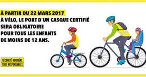 A vélo, le casque sera obligatoire pour les moins de 12 ans