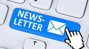 Newsletter : gardons le contact…